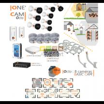 | ONE CAM octo| Dispositif de vidéosurveillance complet comprenant 8 caméras  Basic'Cam VIsio Expert