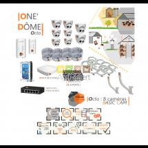 | ONE DÔME Octo | Dispositif de vidéosurveillance complet comprenant 8 caméras  Basic'Dôme Visio Expert