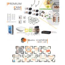 | PREMIUM'CAM quatro| Dispositif de vidéosurveillance complet comprenant 4 caméras  Prem'Cam Visio Expert