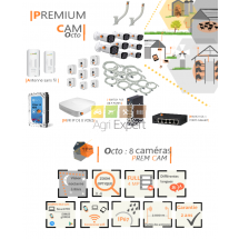 | PREMIUM'CAM octo| Dispositif de vidéosurveillance complet comprenant 8 caméras  Prem'Cam Visio Expert