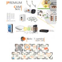 | PREMIUM'CAM Solo| Dispositif de vidéosurveillance complet comprenant 1 caméra  Prem'Cam Visio Expert