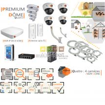 | PREMIUM'DÔME quatro| Dispositif de vidéosurveillance complet comprenant 4 caméras  Prem'DômeVisio Expert