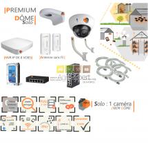 | PREMIUM'DÔME Solo| Dispositif de vidéosurveillance complet comprenant 1 caméra  Prem'DômeVisio Expert