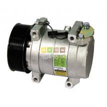 Compresseur climatisation Delphi Harrison SP15 model SP-15 740477 delphi 015213 tracteur Landini powermax 145, 165, 180