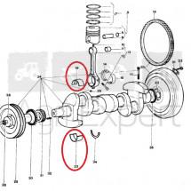 Coussinet de palier moteur Lamborghini FL 1003, 0.311.1250.0/10+0.311.1215.0/10