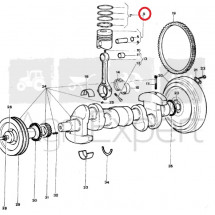 Piston moteur Lamborghini FL1003/2 tracteur R503, R583, R603