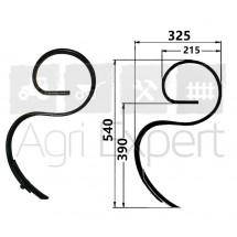 Dent de vibroculteur 32x10 hauteur 540 mm type Kongskilde, Gard, Quivogne...