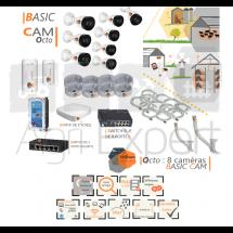 | BASIC' Cam Octo | Dispositif de vidéosurveillance complet comprenant 8 caméras Basic' Cam VIsio Expert