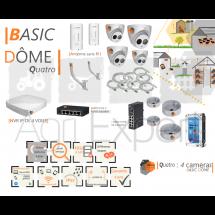 | BASIC' Dôme Quatro | Dispositif de vidéosurveillance complet comprenant 4 caméras Basic' Dôme Visio Expert