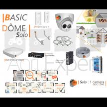 | BASIC' Dôme Solo | Dispositif de vidéosurveillance complet comprenant 1 caméra  Basic' Dôme VIsio Expert