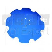 Disque LEMKEN Rubin crénelé, à fond plat, 6 trous, 610 x 6 mm
