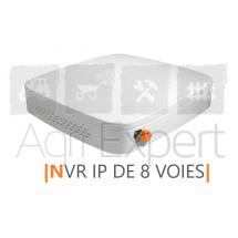Enregistreur pour la transmission de 8 dispositifs de surveillance Visio Expert maximum