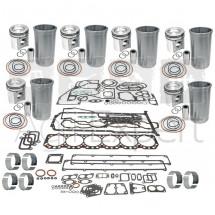 Kit de révision moteur John-Deere 6076A, 6076H, 6076T avec pochette de joint et coussinet de bielle tracteur 4055, 4255, 4455, 4555, 4755