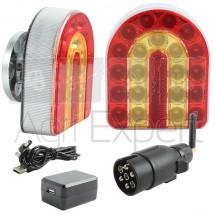 Feux de remorque sans fil, connexion WIFI, fixation magnétique, Kit d'éclairage à LED CONNIX 10 heures d'autonomie