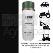 Peinture spray en bombe aérosol de 400ml Noir Caterpillar RAL 9005