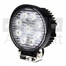Phare de travail rond à 9 LED, puissance 27W, 1700 lm