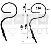Dent droite 32x12 H577 type K429 pour Vibroculteur Carré