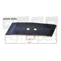 Pointe boulonnée charrue Souchu-pinet 1188AF & 1189AF