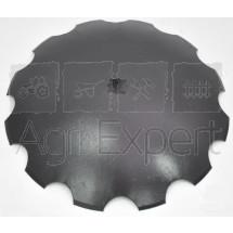 Disque bombé crénelé diamètre 450x3.5 carré 23 mm