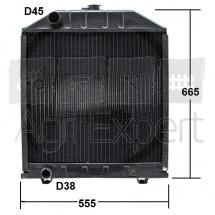 Radiateur pour tracteur Fiat 680, 780, 880, 980, 55-90, 60-90, 70-90, 80-90, 85-90, 90-90, 100-90, 110-90. 5156059, 5167365