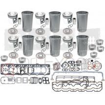 Kit de révision moteur John-Deere 6081H, 6081T avec pochette de joint et coussinet de bielle tracteur 7710, 7810, 8100, 8210, 8300, 8310, 8400