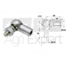 Rotule acier pour vérin à gaz filetage M10 x L30